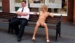 public nudity - Carly nude in public