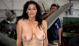 MILF clothed male nude female